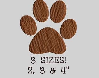 Buy 1 Get 1 Free!  Dog Paw Embroidery Design Dog Footprint Embroidery Design Animal Paw Embroidery Design Animal Footprint Embroidery Design