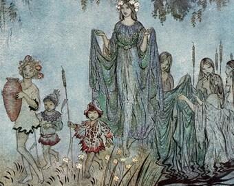 Sabrina Fair,  Arthur Rackham, Vinatge Art Print