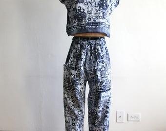 Batik Cotton Pant Set s
