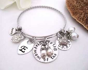 Stepmom of the Bride, StepMother of the Bride Bracelet, Mob Jewelry, Stepmother of the Bride, Stainless Steel Bangle