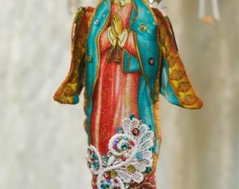 Virgen de Guadalupe Mother of Mexico - Religious Hanging Doll Ornament