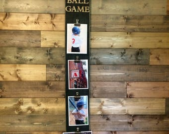 "Pallet Wood Photo Display ""Take me out to the Ball Game"""