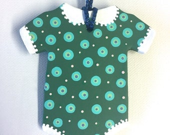 Baby Onesie Ornament Green