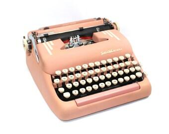 Pink Smith-Corona Manual Typewriter in Case Fully Serviced Working Typewriter
