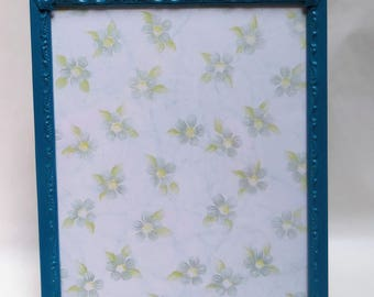 Mid century Modern 8 x 10 Dark Teal  Picture Frame Painted Blue Lagoon