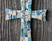 Celtic Mosaic Cross with Custom Name or Sentiment Option MADE TO ORDER