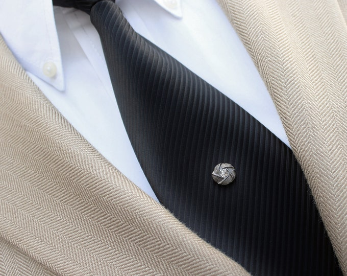 Mens Gifts, Mens Tie Pin, Mens Fashion, Tie Tacks, Tie Clutch Pin, Tie Pins, Fathers Day, Gift for Him, Mens Tie Tack, Gunmetal Tie Tack