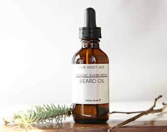 Nordic Evergreen Beard Oil | 100% natural and vegan beard oil | Men's Grooming