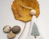 Simple Handmade Christmas Tree Ornament Balsam Fir Embroidered Sachet