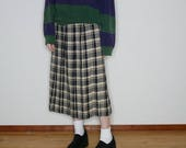 90s Wool tartan plaid pleated maxi skirt by Pendleton listed as a size 12