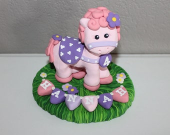 Custom Horse Cake Topper for Birthday or Baby Shower WITH Balloons