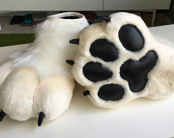 CUSTOM indoor fursuit foot paws - Made to order! YOU PICK colors, patterns, etc!