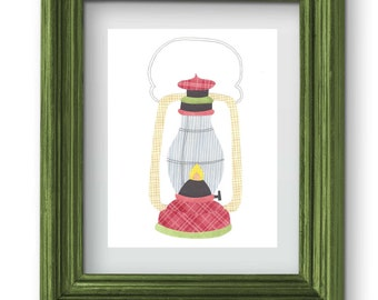 Camping Lantern Collage Print {Digital}