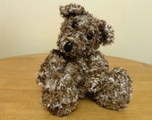 "Hand Knitted Teddy for Collectors - 12"" Knitted Bear - Brown Mix Bear"