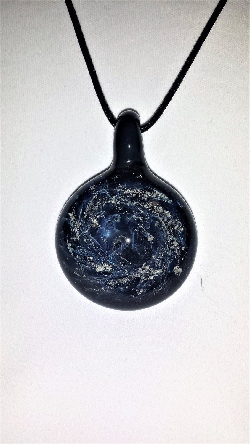 ashes to glass jewelry cremation jewelry blown glass pendant stardust galaxy 6933
