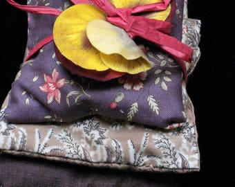 A Set of 3 Lavender Sachet Filled Pillows For Drawers and Linens