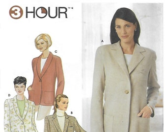 Simplicity 9138 Women's 2000s Relaxed Fit Jacket Sewing Pattern Size 14 to 20 Bust 36 to 42