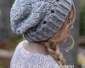 KNITTING PATTERN - Lakyn Slouchy (12/18m, Toddler, Child and Adult sizes)