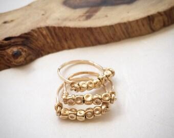Rings set, Stacking rings, Simple rings, Gold rings, Everyday rings, Stackable rings, Gold stacking rings, Minimalist rings, Delicate ring