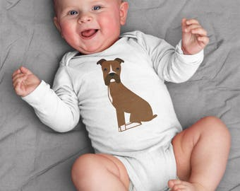 Boxer baby boy clothes, baby boy bodysuit, Boxer baby romper, baby gift