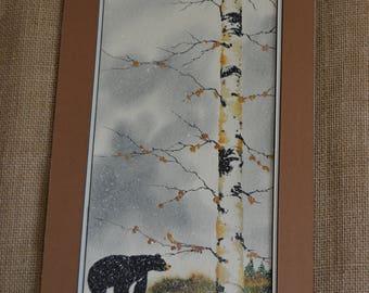 Black Bear Wandering in the Woods (unframed) 8x16