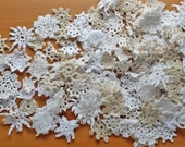 75 Natural Mini Crochet Doilies Mix, Small Flower Doily Pieces, Tiny Crochet Pieces for Crafts, Weddings, Dream Catchers, Sewing, and More