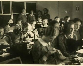 "Vintage Photo ""The Night Shift"" Snapshot Antique Photo Old Black & White Photograph Found Paper Ephemera Vernacular - 48"