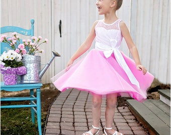 Gala Party Dress PDF Sewing Pattern: Girls Dress Pattern, Baby Dress Pattern, Flower Girl, Party Dress