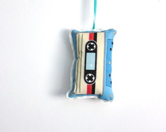 Cassette tape Christmas ornament- Stocking stuffer- Host gifts under 10