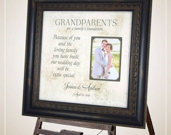 Grandparents Thank You, Wedding Thank You Gift for Grandparents, grandparents wedding gift, Grandmother Gift, Grandfather Gift, 16 X 16