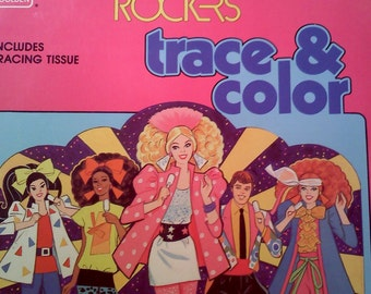 Barbie And The Rockers Trace Color Book