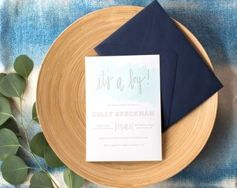 custom letterpress baby shower invitations