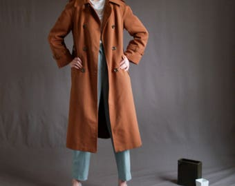 Burnt Sienna Classic Trench Coat