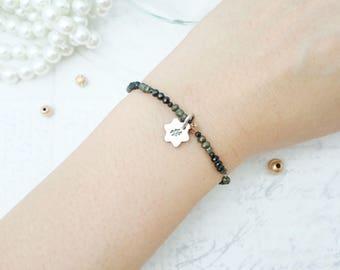 Hashtag Bracelet - Silver Pendant, Hashtag Sign, Beaded Bracelet