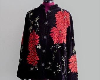 Embellished Black Velvet Jacket