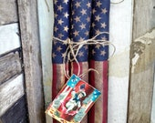 Patriotic Firecracker Bowl Filler | American Flag | 4th of July decoration | Patriotic home decor | Primitive decor | Grungy Firecrackers