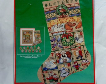 Counted Cross Stitch Kit 12 TWELVE Days Of CHRISTMAS SAMPLER By Dimensions
