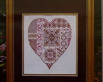 50%OFF Turquoise Graphics & Designs DEEPEST LOVE Heart Valentine's Day - Counted Cross Stitch Pattern Chart