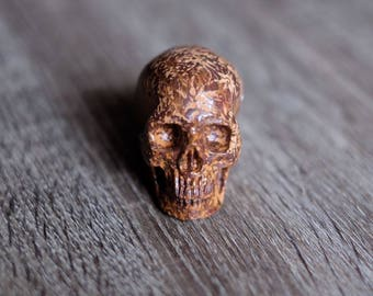 Calligraphy Stone Carved Crystal Skull