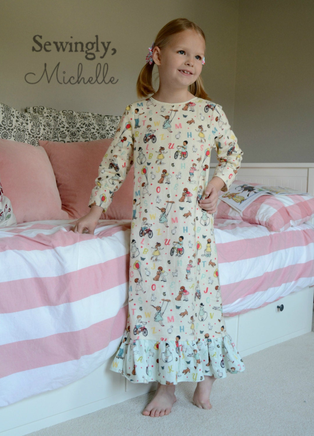Dream Catcher Girls Nightgown Pdf Sewing Pattern Pajamas