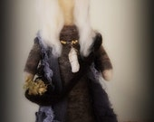 Wise Woman Healer.  Needle felted doll.
