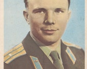 Vintage Photo Postcard (Y. Gagarin) -- 1961. Condition 9/10