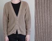 chunky knit cardigan - L