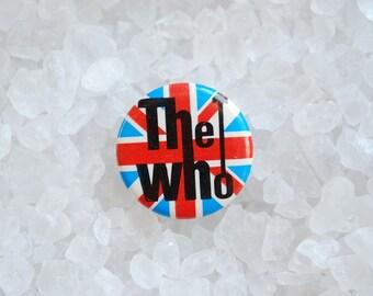 Vintage The Who English Rock Band Metal Pinback Button - 1970's
