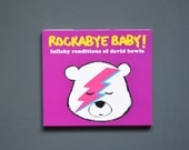 David Bowie Baby Lullaby Music CD. Instrumental lullaby songs for the nursery. Funny newborn baby gift for a mini Ziggy Stardust