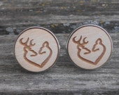Deer Heart Cufflinks. I Love You. Gift For Groom, Anniversary, Birthday, Valentine's Day, Christmas, Rustic. Buck, Doe