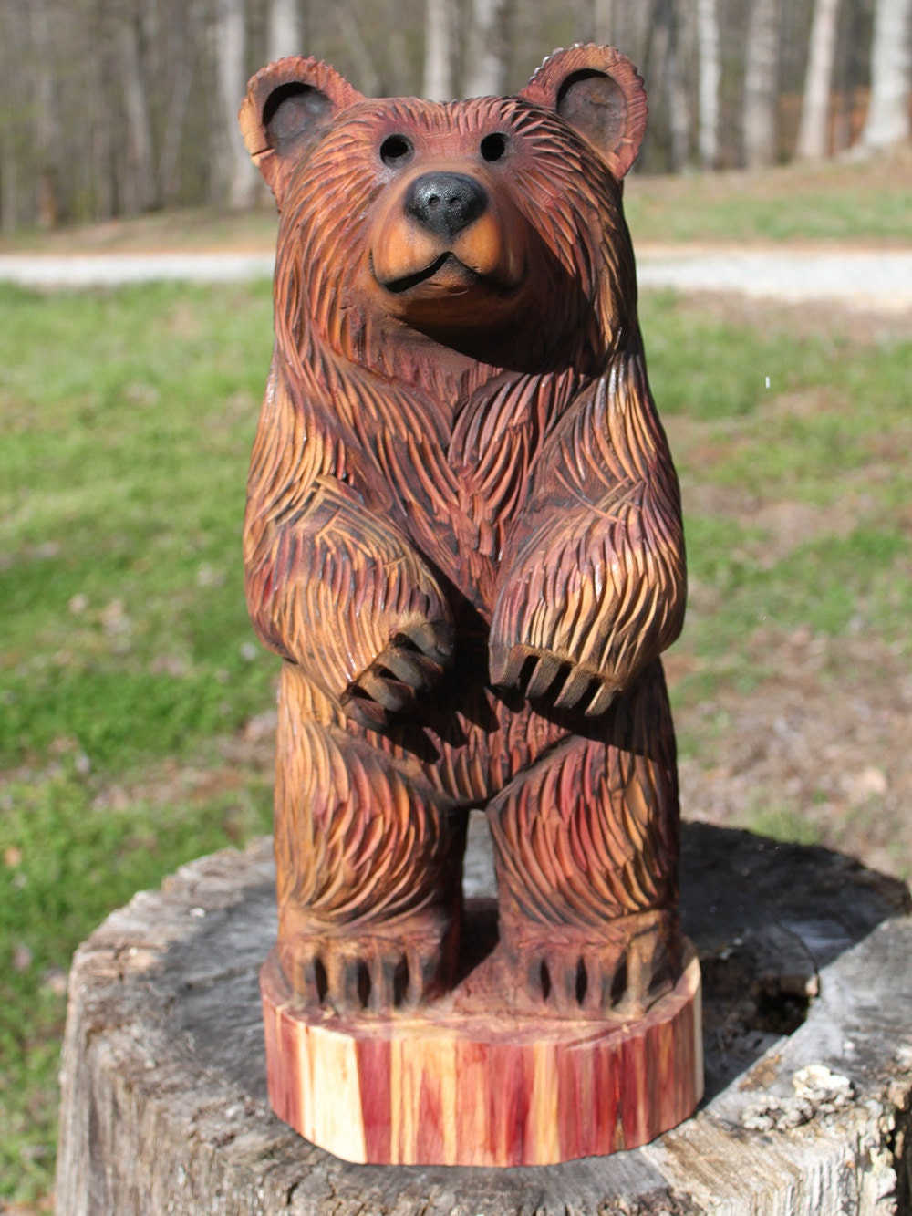 Inch bear cub chainsaw wood carving dually