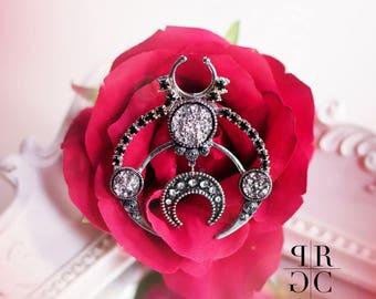 Oversized Septum ring,  Moon Septum ring, septum jewelry, drag queen septum, unisex septum, Man septum, Inspired Givenchy septum, Jewelry