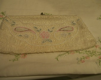 Vintage Beaded Purse Made in Belgium Formal Clutch Purse Ideal for Wedding