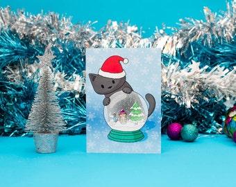 6 Snow Globe  Christmas Cards